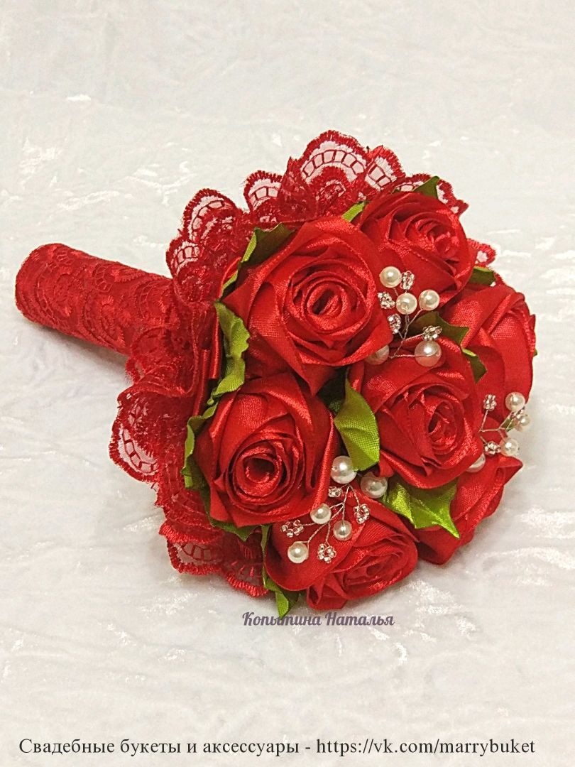 Bouquet stand-in bride's 'Red wedding', Wedding bouquets, St. Petersburg,  Фото №1