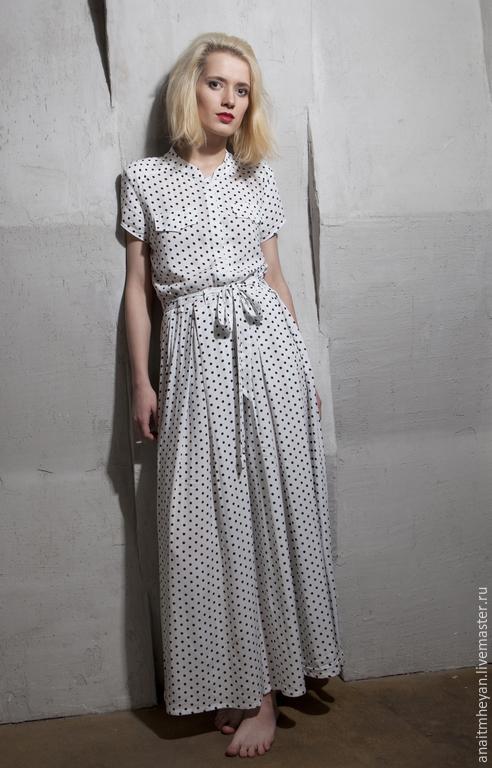 """Платья ручной работы. Ярмарка Мастеров - ручная работа. Купить Платье """" WHITE SKY"""". Handmade. Белый, платье летнее"""