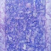 Картины и панно ручной работы. Ярмарка Мастеров - ручная работа Картина Портал в фиолетовой дымке. Handmade.