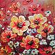 """Натюрморт ручной работы. Ярмарка Мастеров - ручная работа. Купить Картина """"Цветочная поляна """" акрил+текстурная паста 20х30см. Handmade."""