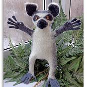 Куклы и игрушки ручной работы. Ярмарка Мастеров - ручная работа Лемур кольцехвостый - перчаточная кукла, войлок. Handmade.