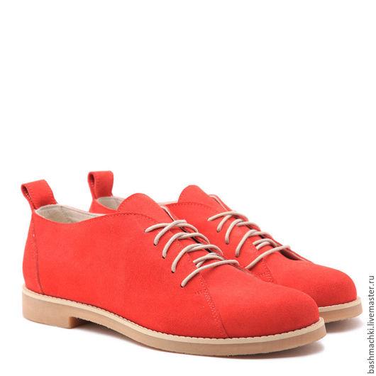 """Обувь ручной работы. Ярмарка Мастеров - ручная работа. Купить Башмачки женские """"lowshoes""""  #50. Handmade. Коралловый, ботинки"""
