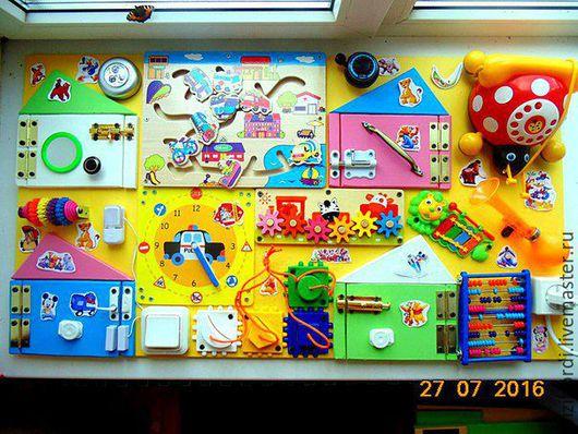 Развивающие игрушки ручной работы. Ярмарка Мастеров - ручная работа. Купить Бизиборд макси 2. Handmade. Комбинированный, бизиборд, Монтессори