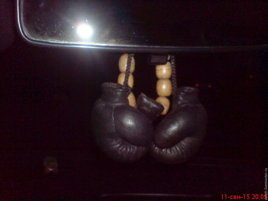 Автомобильные ручной работы. Ярмарка Мастеров - ручная работа. Купить Боксерские перчатки(сувенирные). Handmade. Перчатки, сувениры и подарки, автомобильный аксессуар