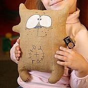 Куклы и игрушки ручной работы. Ярмарка Мастеров - ручная работа Много. Игрушка интерьерная  из 100% льна кот, коза, заяц. Handmade.