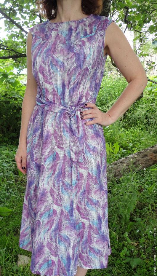Одежда. Ярмарка Мастеров - ручная работа. Купить Летнее платье. 44 размер. Handmade. Комбинированный, для лета, хлопок 100%