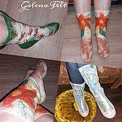 Обувь ручной работы handmade. Livemaster - original item Felted socks.. Handmade.