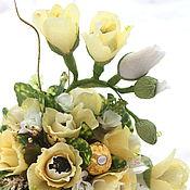 Цветы и флористика ручной работы. Ярмарка Мастеров - ручная работа Брызги шампанского...........букет из конфет. Handmade.