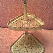 Для дома и интерьера ручной работы. Ярмарка Мастеров - ручная работа Этажерка-конфетница. Handmade.