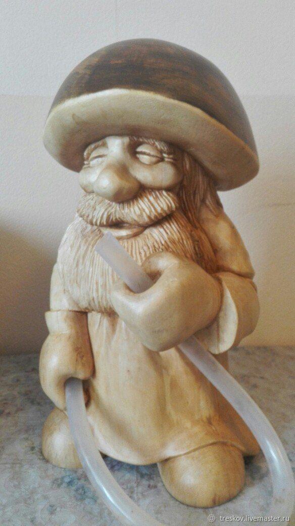 Garden sculpture made of wood 'the gardener', Garden figures, Dzerzhinsk,  Фото №1