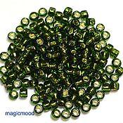 Материалы для творчества handmade. Livemaster - original item 10gr 6/0 37 Toho Japanese seed beads TOHO olive interior silvering. Handmade.