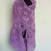 Аксессуары handmade. Livemaster - original item Lilac shawl