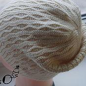 Материалы для творчества ручной работы. Ярмарка Мастеров - ручная работа МК-описание шапки-бини крючком De luxe. Handmade.