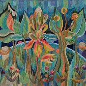 Картины и панно ручной работы. Ярмарка Мастеров - ручная работа Гобелен - Земля зелёная. Handmade.