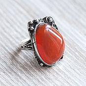 Украшения handmade. Livemaster - original item Carnelian (ring) (767). Handmade.