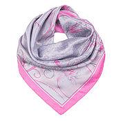 Материалы для творчества handmade. Livemaster - original item Silk jacquard shawl 95*95 cm.. Handmade.