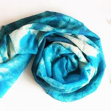 Аксессуары handmade. Livemaster - original item Batik BOHO Wool Scarf Purity of nature virgin WOOL with silk. Handmade.