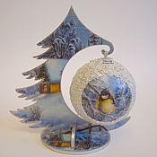 Подарки к праздникам handmade. Livemaster - original item Herringbone-a pendant with bead 7 cm