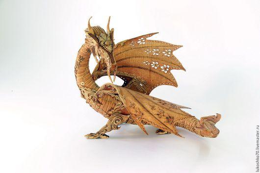 Подарки для мужчин, ручной работы. Ярмарка Мастеров - ручная работа. Купить Дракон из бересты. Дракон сувенирный.. Handmade. Изделия из бересты