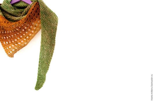 """Шарфы и шарфики ручной работы. Ярмарка Мастеров - ручная работа. Купить Бактус """"Тайга"""". Handmade. Бактус, шаль, вязаный шарф"""