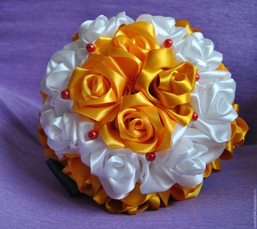 Свадебные цветы ручной работы. Ярмарка Мастеров - ручная работа. Купить Свадебный букет-дублер. Handmade. Белый, свадебный букет