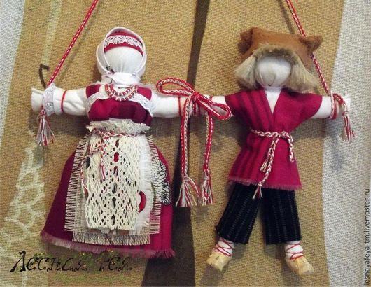 Народные куклы ручной работы. Ярмарка Мастеров - ручная работа. Купить Кукла-оберег Неразлучники. Handmade. Неразлучники, народные традиции