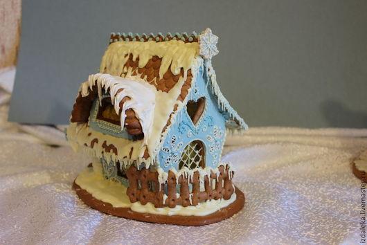 Кулинарные сувениры ручной работы. Ярмарка Мастеров - ручная работа. Купить пряничный домик голубой. Handmade. Голубой, пряничный сувенир
