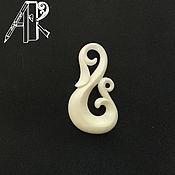 Украшения handmade. Livemaster - original item Openwork massacre pendant made of bone. Carved pendant. Bone carving. Handmade.