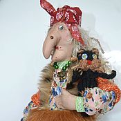 Куклы и игрушки ручной работы. Ярмарка Мастеров - ручная работа Баба Яга оберег дома. Handmade.