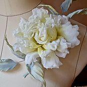 Цветы ручной работы. Ярмарка Мастеров - ручная работа Шелковая роза- брошь Амели. Handmade.