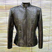 handmade. Livemaster - original item Vero Python jacket. Handmade.