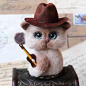 Куклы и игрушки handmade. Livemaster - original item Bluesman cat with a guitar. Handmade.