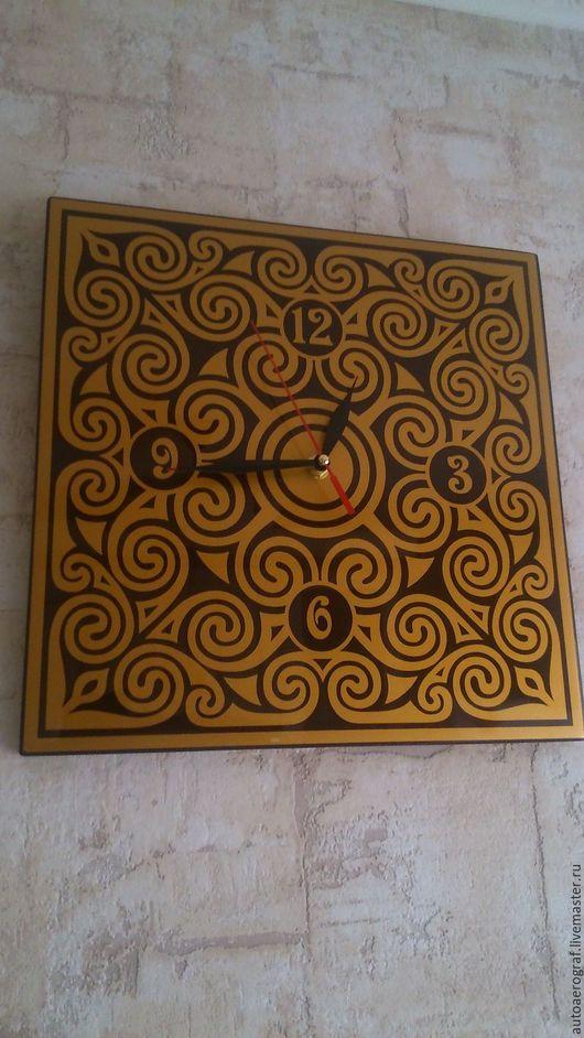 """Часы для дома ручной работы. Ярмарка Мастеров - ручная работа. Купить Часы настенные""""Гленморанже"""".. Handmade. Комбинированный, орнамент, краска, пластик"""