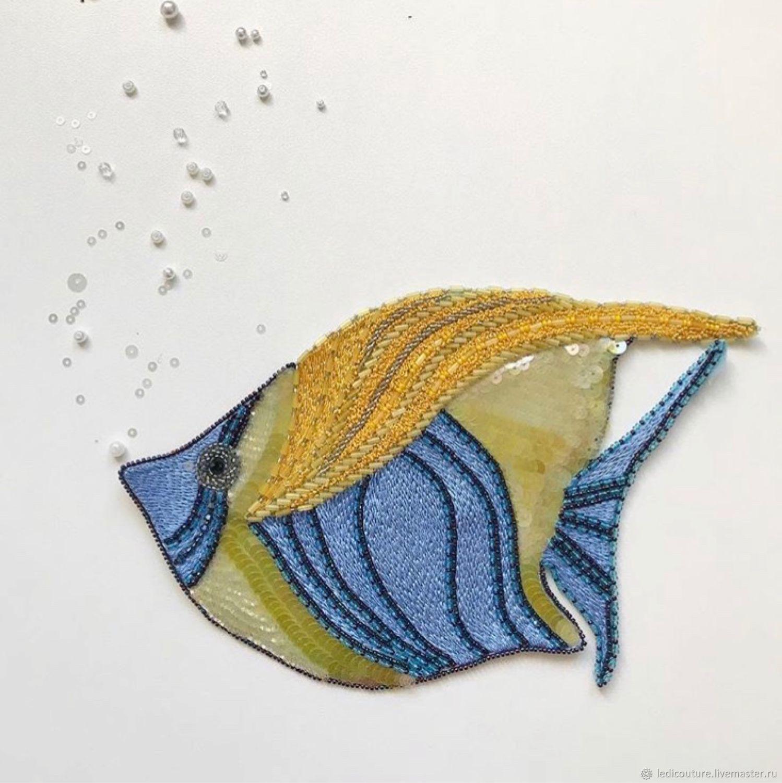 Аппликация Люневильская вышивка Рыбка 40 долларов, Аппликации, Минск,  Фото №1