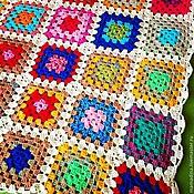 """Для дома и интерьера ручной работы. Ярмарка Мастеров - ручная работа Плед из мотивов """"бабушкин квадрат """". Handmade."""
