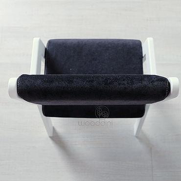 Мебель ручной работы. Ярмарка Мастеров - ручная работа Стул буковый растущий Альмо миди с белыми ножками. Handmade.