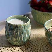Стаканы ручной работы. Ярмарка Мастеров - ручная работа Стакан резной керамика. Handmade.