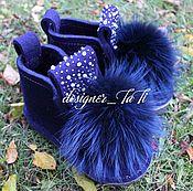 """Обувь ручной работы. Ярмарка Мастеров - ручная работа Валенки, модель """"Первый снег"""". Handmade."""