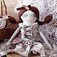 """Коллекционные куклы ручной работы. Ярмарка Мастеров - ручная работа. Купить """"Шоколадная глазурь"""" - кукла, ручной работы.. Handmade. девочке"""
