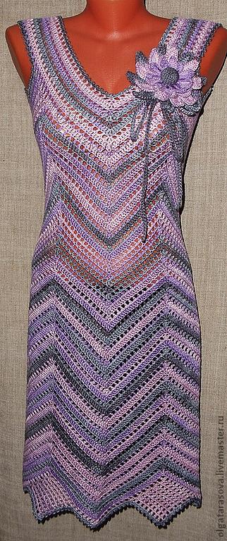 """Вязание ручной работы. Ярмарка Мастеров - ручная работа. Купить Мастер-Класс вязания авторского платья """"Диагональ"""" (основы). Handmade."""