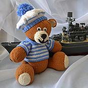 Куклы и игрушки ручной работы. Ярмарка Мастеров - ручная работа Мишка Морячок вязаный. Handmade.