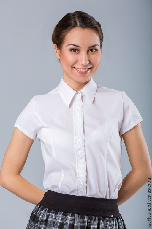 Купить белую блузку для подростка