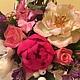 Цветы ручной работы. Букет цветов из полимерной глины. Гаяне Шахпарян. Ярмарка Мастеров. Букет невесты, цветочная композиция