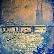 Картины и панно ручной работы. Ярмарка Мастеров - ручная работа Лондон (по мотивам картины Клода Моне). Handmade.
