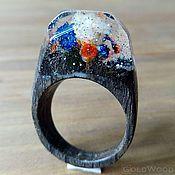 """Украшения ручной работы. Ярмарка Мастеров - ручная работа Деревянное кольцо """"Волшебная  принцесса 36"""", кольцо из дерева. Handmade."""