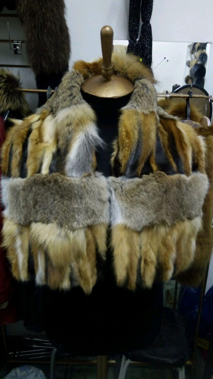 Шарфы и шарфики ручной работы. Ярмарка Мастеров - ручная работа. Купить Шарф из меха лисы и кролика. Handmade.