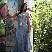 Одежда ручной работы. Ярмарка Мастеров - ручная работа Бохо костюм,,Джинсовый бохо,,. Handmade.