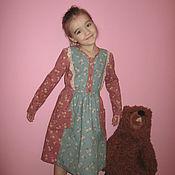 Работы для детей, handmade. Livemaster - original item Corduroy dress