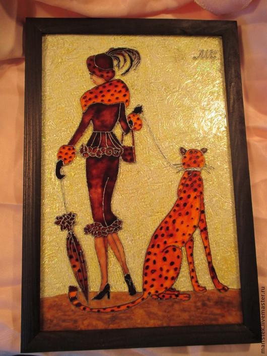 Люди, ручной работы. Ярмарка Мастеров - ручная работа. Купить Девушка с зонтом. Handmade. Рыжий, зонт, стекло, сувенир