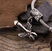 """Украшения ручной работы. Ярмарка Мастеров - ручная работа """"Летающий объект"""" серебряная бусина для браслетов. Handmade."""